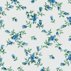 Selvklæbende folie blå blomster 11604