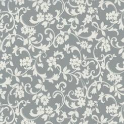 Selvklæbende folie grå/hvid blomst 11905