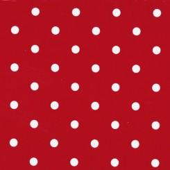 Selvklæbende folie rød prikket 12594