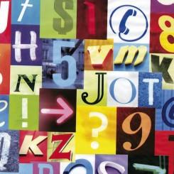 Selvklæbende folie alfabet 12875