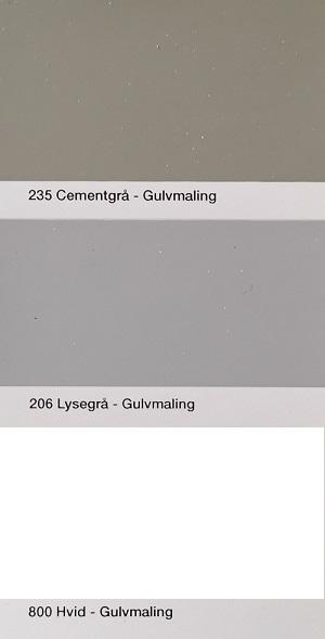 Farvekort Gulvmaling